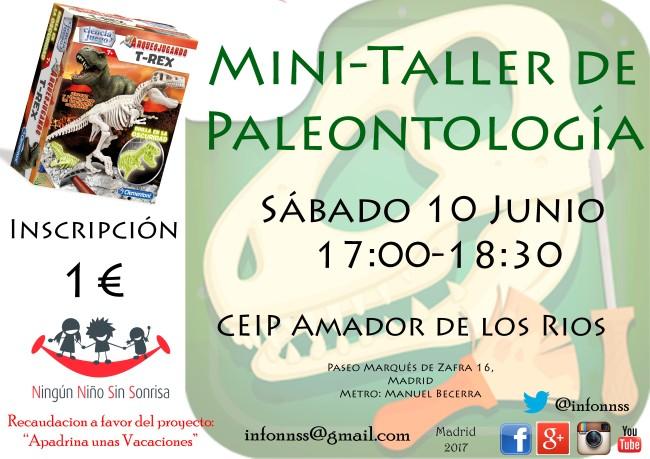Ningún Niño Sin Sonrisa - taller de paleontología