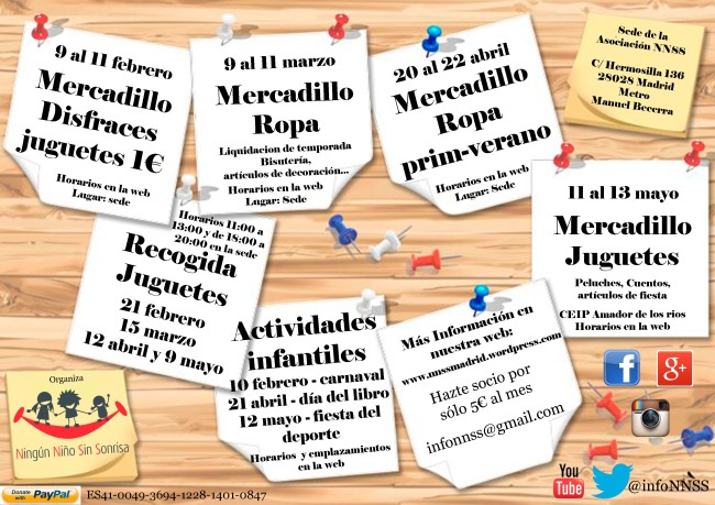 Calendario de pr ximos eventos nnss ning n ni o sin sonrisa for Calendario eventos madrid